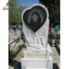 Памятник из белого мрамора №11